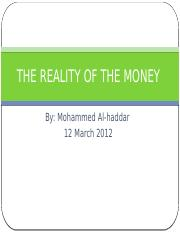 ch05 THE REALITY OF THE MONEY