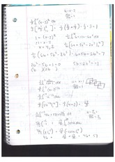 Class Material Derivative and Fraction Problems