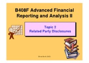 B408F Topic 2 Related Party Disclosures (2012)
