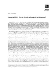 245666559-Apple-in-2013-How-to-Sustain-a-Competitive-Advantage