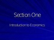 Section_One-Intro_To_Economics