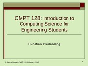 lecture23 Function Overloading