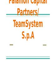 Case 51- Palamon Capital Partners%2F TeamSystem S.p.A