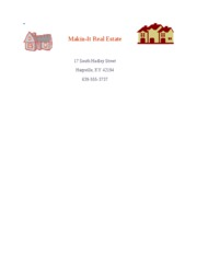 Makin-It Real Estate Letterhead