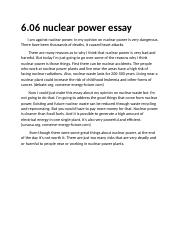 6.06 nuclear essay
