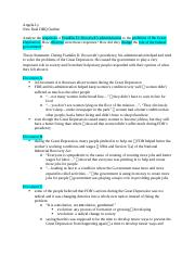 New Deal DBQ Outline