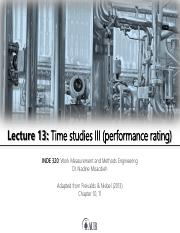 Lecture 13 - Time studies III (performance rating).pdf