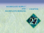 Chapter 27 - Aggregate Demand and Supply