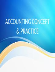 3 Accounting concept & practice