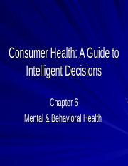 Consumer Health-Chap.6.ppt