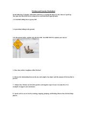 Friction and Gravity Worksheet.doc - Friction and Gravity ...
