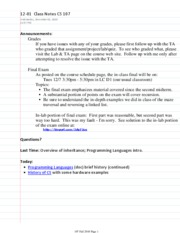 12-01  Class Notes CS 107