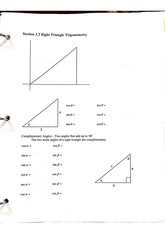 3.3 Right triangle trig