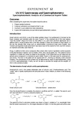 CHEM_103_Exp_12_Spectrophotometric_Analysis_Aspirin_Tablet