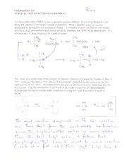 04 Substitution Reactions Worksheet Key