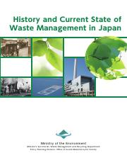 history of current state of waste management in japan pdf - History
