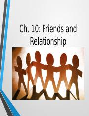 Ch.10 Communication Relationships (Friendships-Oct.6)