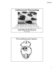Cardiovascular Pharmacology_(2 slides)