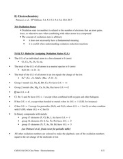 Chem 120 Electrochemistry Notes
