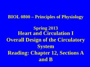 13 14 Heart and Circulation I and II (1)