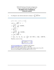 ENGI 4430 Problem Set 3 Solutions