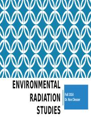 Environmental Radiation Studies - Introduction