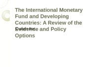 L9_The International Monetary Fund and developing countries