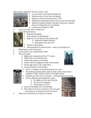 Lecture 8 notes - Gothic France and Illuminated Manuscripts
