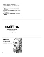 Lecture 1 - Psychology