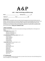 Lab 1 Worksheet