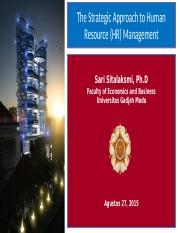 Lecture 1 HRM S1 - Ch1 Strategic Approach to HRM