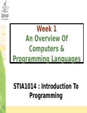 Chapter1-OverviewOfComputerAndProgLanguage
