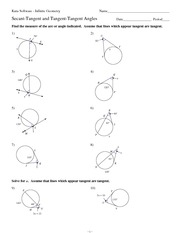Printables Inscribed Angles Worksheet math 9 tangent angle worksheet solutions kuta software infinite geometry
