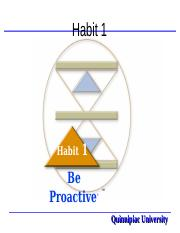 Habit 1... Be Proactive