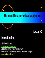 HRM Lecture no 2.ppt
