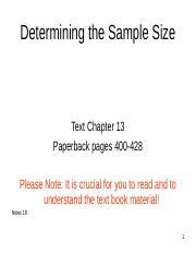 BB Slides - Notes 18 - Sample Size -1(1).ppt