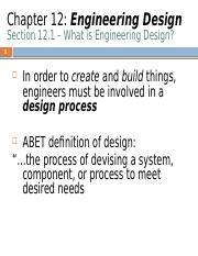 Chapter 12 Engineering Design
