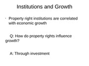 Lecture 3 - Institutions and Growth