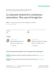 A Corporate System for Continuous Innovation -  The case of Google Inc.pdf