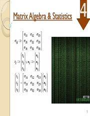 SCE 4104 Matrix Algebra  statistics Topic 4.pdf