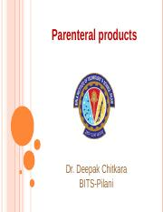 7 Parenteral products