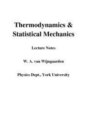 PHYS 3090 Statistical Mechanics Study Guide