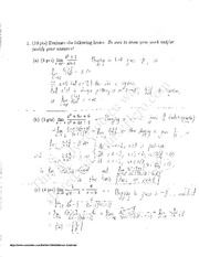 Midterm1 - Solutions
