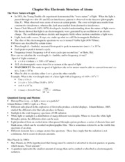 Chemistry Chapter 6 Notes