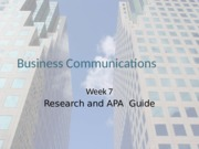 COMM12423 - Class 7- Research and APA.pptx