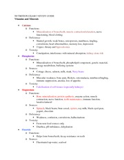 NUTRITION EXAM 3 Notes 3