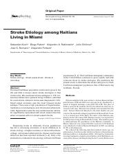 Stroke Etiology among Haitians Living in Miami.pdf