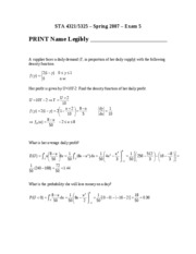 Exam 5A Solution on Introduction to Probability.doc