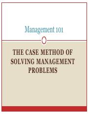 Lecture 7. THE CASE METHOD OF SOLVING MANAGEMENT PROBLEMS