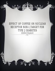 Effect of coffee on Nuclear Receptor NOR-1 powerpoint